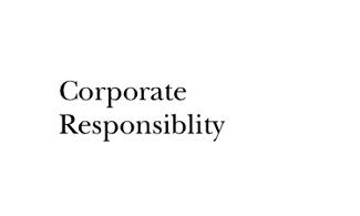 Corp. Responsibility