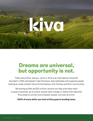 Brand book - Kiva press
