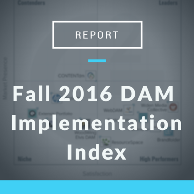 Fall 2016 DAM Implementation Index by G2 Crowd
