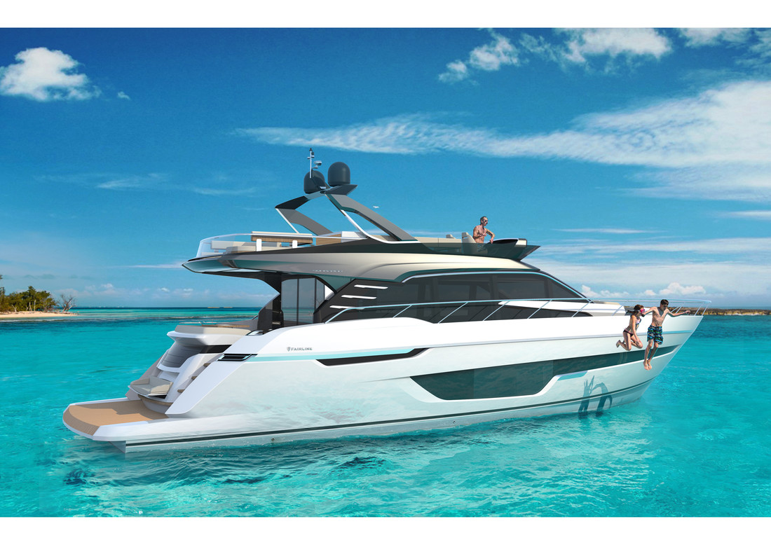 Squadron 64 Render 4 - Gray Superstructure - Fairline Yachts file