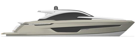 Targa 63 GT Exterior WHITE SAND - Fairline Yachts file