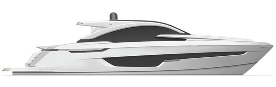 Targa 63 GT Side Profile - Fairline Yachts file