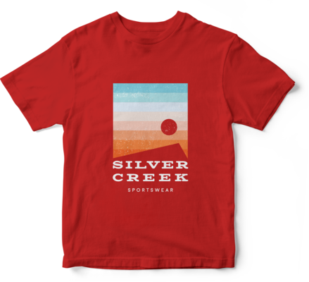 Red Basic Tee - Silver Creek Sportswear file