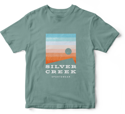 Light Teal Basic Tee - Silver Creek Sportswear file