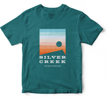 Teal Basic Tee - Silver Creek Sportswear file