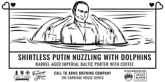 Shirtless Putin Nuzzling Dolphins.jpg - Call to Arms Brewing Company file