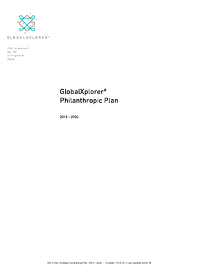 GlobalXplorer Philanthropic Plan.pdf - GlobalXplorerº file