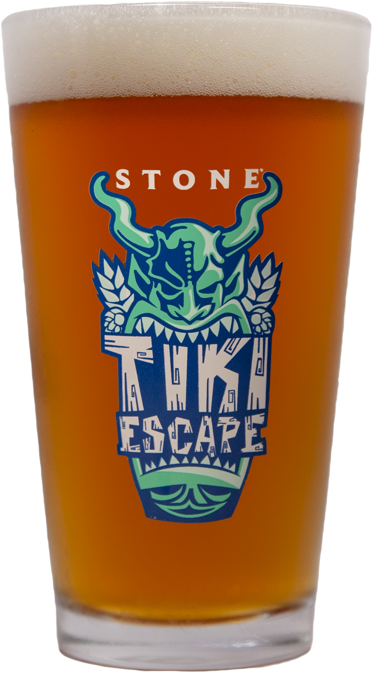 Tiki Escape Pint Glass