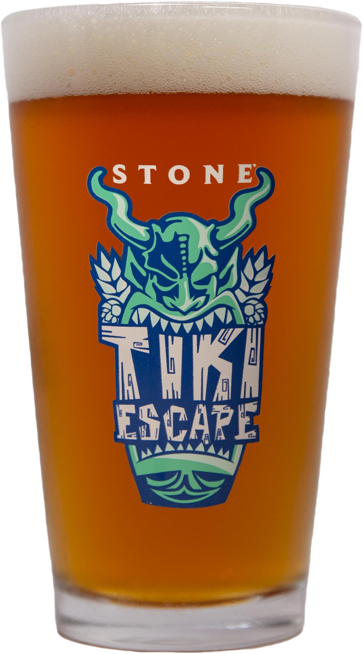 Tiki Escape Pint Glass