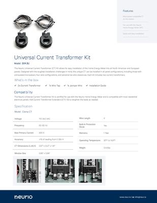 Neurio_Universal_CTs_SpecSheet.pdf - Neurio Technology Inc. file