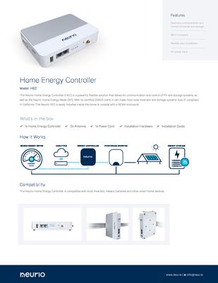 Neurio_Home_Energy_Controller_SpecSheet.pdf - Neurio Technology Inc. file
