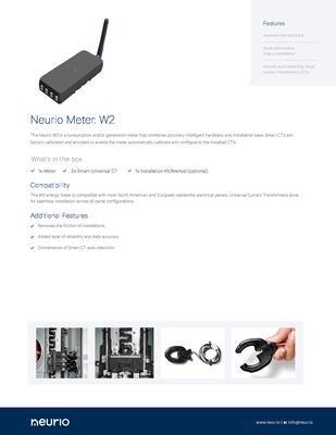 Neurio_W2_Meter_SpecSheet.pdf - Neurio Technology Inc. file