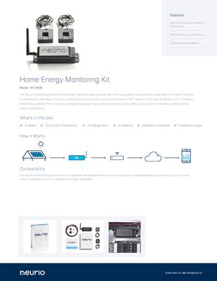 Neurio_Home_Energy_Monitoring_Kit_SpecSheet.pdf - Neurio Technology Inc. file