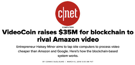 CNET: VideoCoin raises $35M for blockchain to rival Amazon video - VideoCoin Brand Assets press