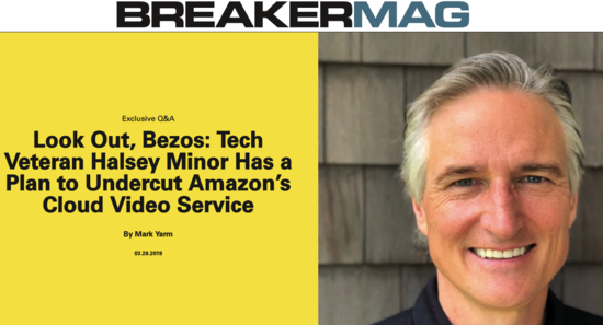 BREAKER Magazine: Look Out, Bezos: Tech Veteran Halsey Minor Has a Plan to Undercut Amazon's Cloud Video Service - VideoCoin Brand Assets press