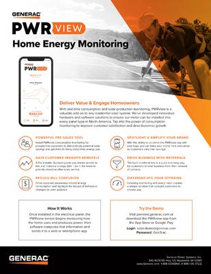 Home Energy Monitoring Spec Sheet - Generac Clean Energy file