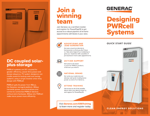 PWRcell Trifold Brochure - Generac Clean Energy file