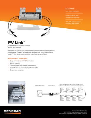 PV Link Spec Sheet - Generac Clean Energy file