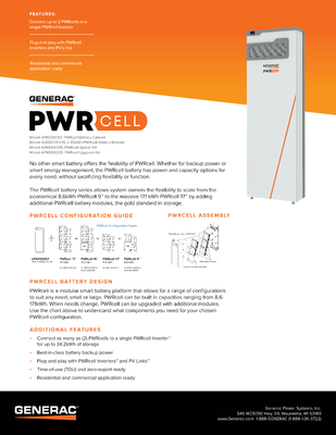 PWRcell Battery Spec Sheet - Generac Clean Energy file