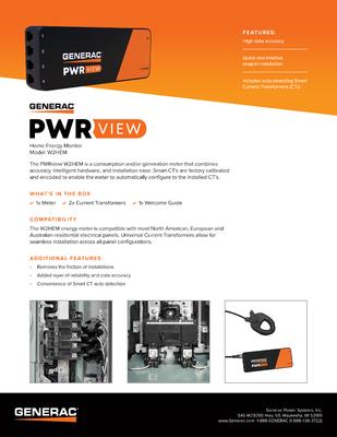 PWRview Meter Spec Sheet - Generac Clean Energy file