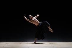 Paulo Arrais in Wayne McGregor's Obsidian Tear; photo by Rosalie O'Connor, courtesy Boston Ballet